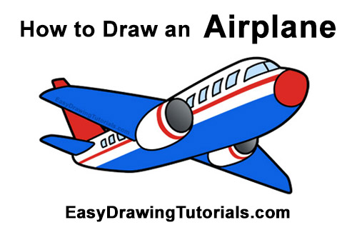 How To Draw An Airplane Video Step By Step Pictures