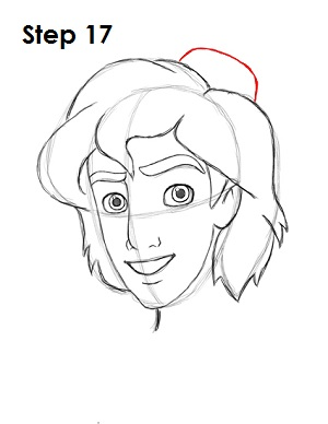 How to Draw Aladdin Step 17