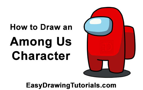 How to Draw an Among Us Video Game Character