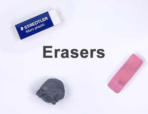Art Drawing Materials Supplies List Erasers