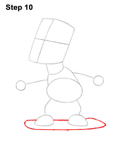 How to Draw Bart Simpson Full Body Skateboard Skater Skating 10