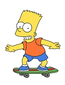 How to Draw Bart Simpson Full Body Skateboard