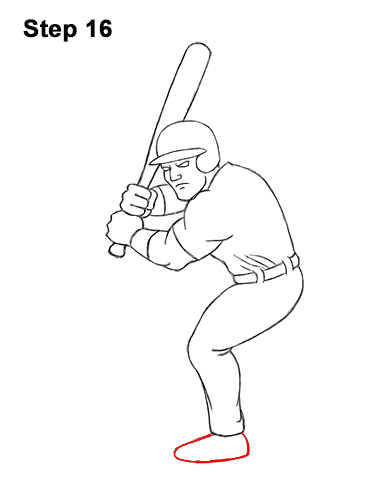How To Draw A Baseball Player Video Step By Step Pictures