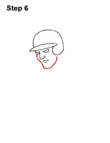 How to a Draw Cartoon Baseball Player Batter 6