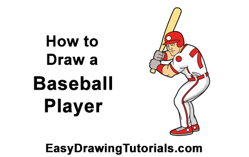 How to a Draw Cartoon Baseball Player Batter