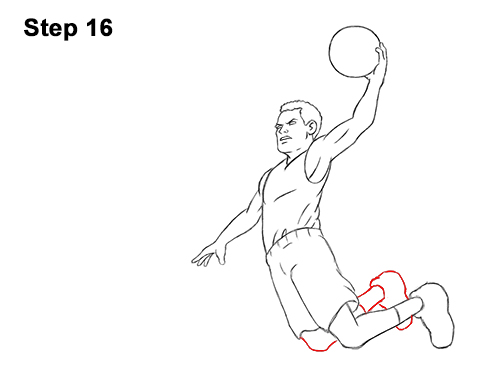 How To Draw A Basketball Player Video Step By Step Pictures