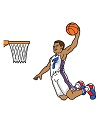 How to Draw Basketball Player Dunk