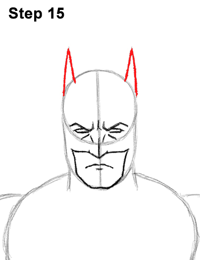 Draw Batman Full Body 15