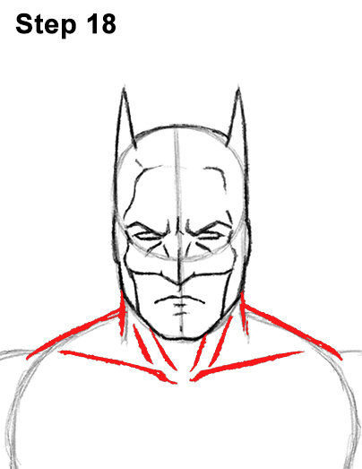 Draw Batman Full Body 18