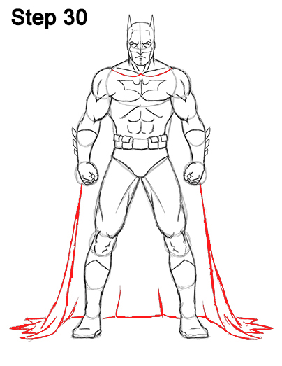 Draw Batman Full Body 30