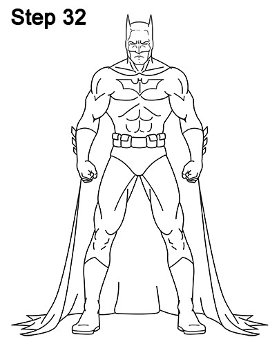 Draw Batman Full Body 32
