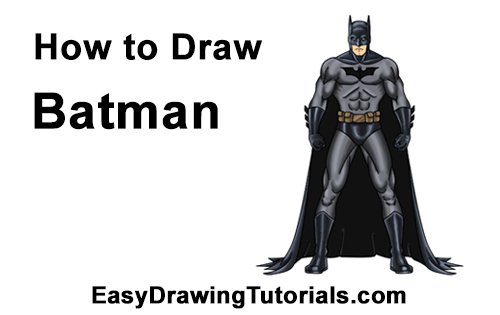 How to Draw Batman Full Body