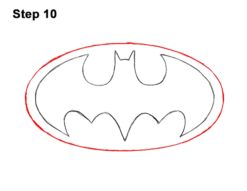 How to Draw the Batman Logo Symbol Icon Emblem 90s 10