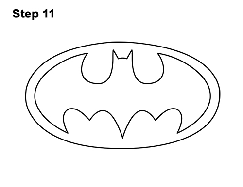 How to Draw the Batman Logo Symbol Icon Emblem 90s 11
