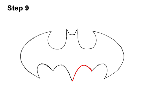 How to Draw the Batman Logo Symbol Icon Emblem 90s 9