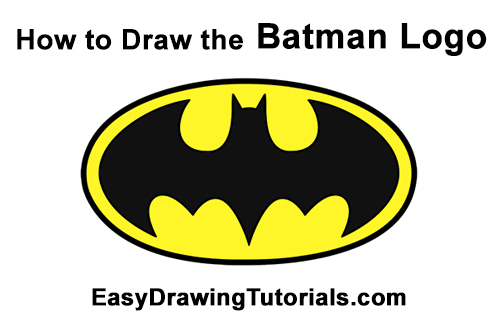 How to Draw the Batman Logo Symbol Icon Emblem 90s