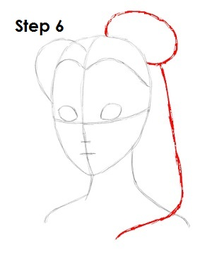 How to Draw Belle Step 6
