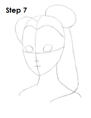 How to Draw Belle Step 7