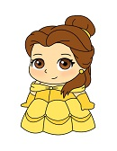 How to Draw Belle Mini Beauty and the Beast