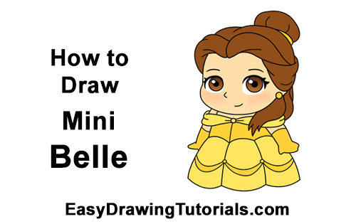 How to Draw Mini Chibi Little Belle Beauty Cute