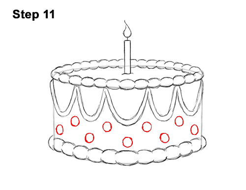 Astounding How To Draw A Birthday Cake Video Step By Step Pictures Funny Birthday Cards Online Alyptdamsfinfo