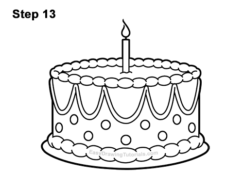 Fine How To Draw A Birthday Cake Video Step By Step Pictures Funny Birthday Cards Online Alyptdamsfinfo