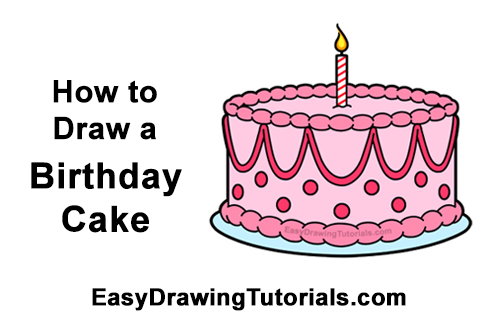 Excellent How To Draw A Birthday Cake Video Step By Step Pictures Funny Birthday Cards Online Alyptdamsfinfo