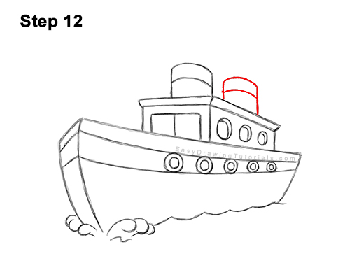 How to Draw Cartoon Boat Ship 12