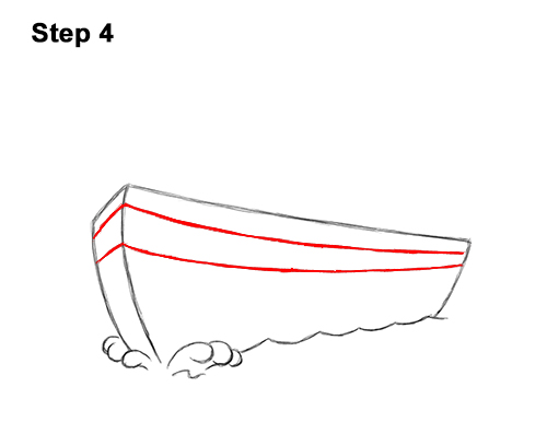 How to Draw Cartoon Boat Ship 4