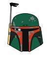 How to Draw Boba Fett Head Star Wars