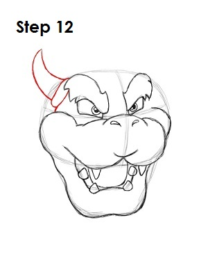 How to Draw Bowser Step 12