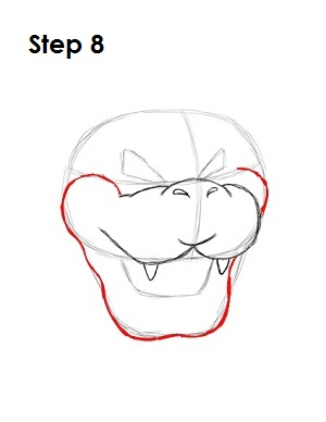 How to Draw Bowser Step 8
