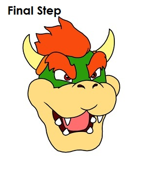 How to Draw Bowser Completed Drawing