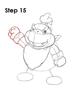 How to Draw Bowser Jr. Step 15