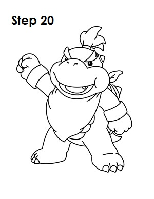 How to Draw Bowser Jr. Step 20