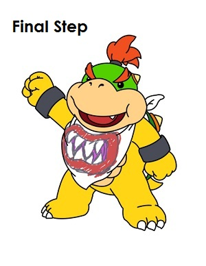 How to Draw Bowser Jr. Completed Drawing