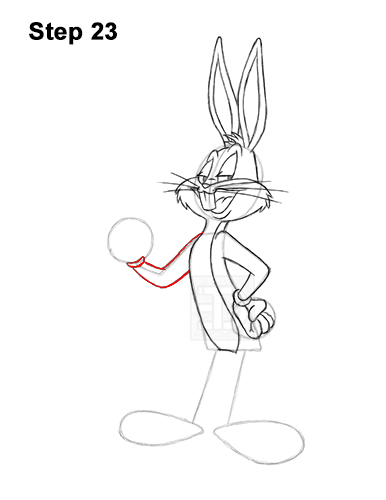 How to Draw Bugs Bunny Full Body Carrot 23