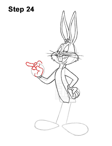 How to Draw Bugs Bunny Full Body Carrot 24