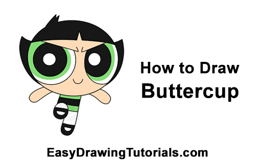How to Draw Buttercup Powerpuff Girls Full Body