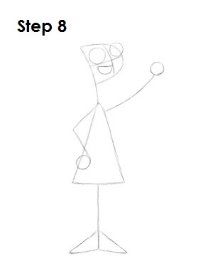 How to Draw Candace Step 8