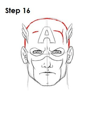 Draw Captain America Step 16