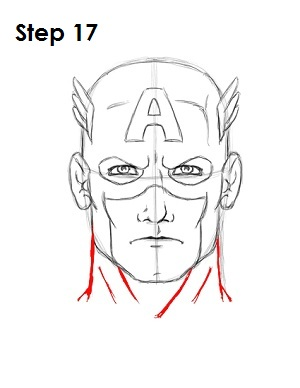 Draw Captain America Step 17