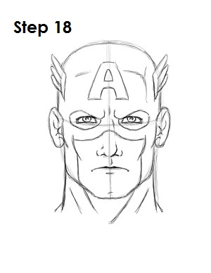 Draw Captain America Step 18