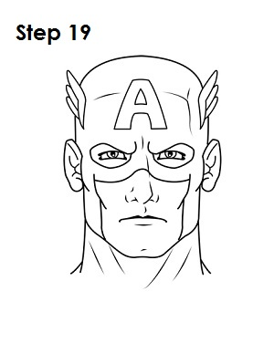 Draw Captain America Step 19