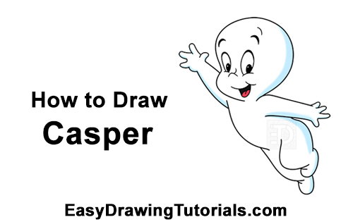 How to Draw Casper the Friendly Ghost Halloween