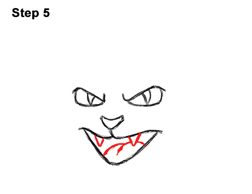 How to Draw Angry Mean Halloween Cartoon Black Cat arched back 5
