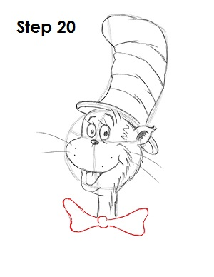 Draw Cat in the Hat 20