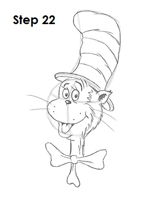 Draw Cat in the Hat 22