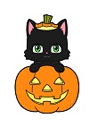 How to Draw Cute Black Cat in Halloween Jack-O'-Lantern Chibi Kawaii