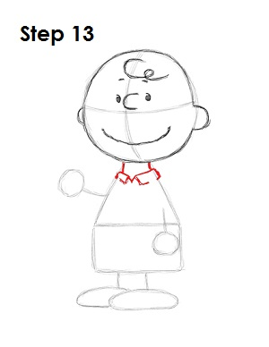 Draw Charlie Brown 13
